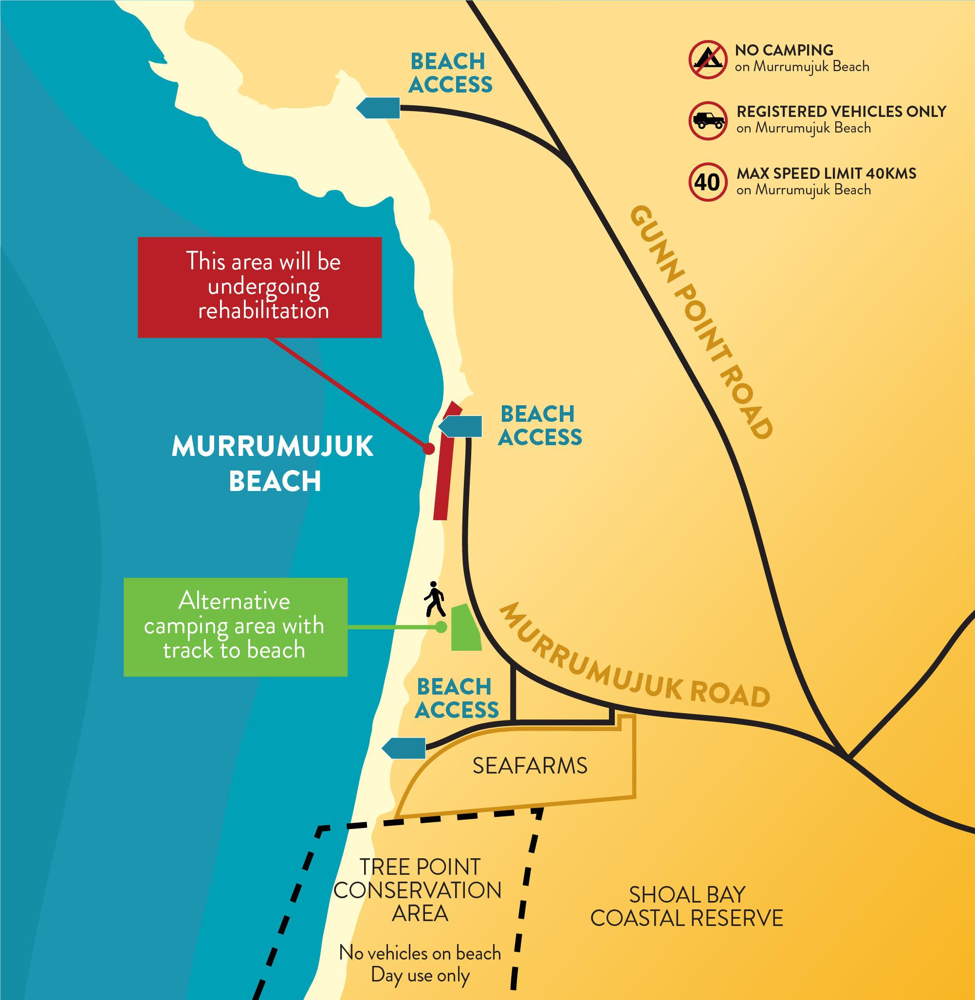 Gunn Point recreation beach map